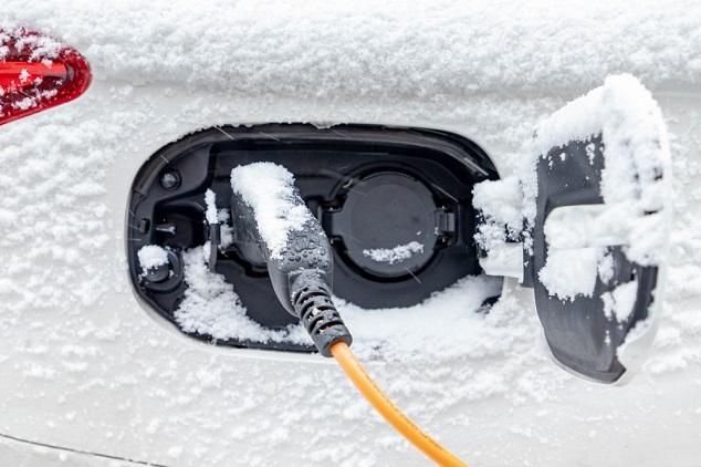 Actieradius tweedehands elektrische auto met sneeuw