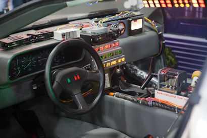 DeLorean binnenkant