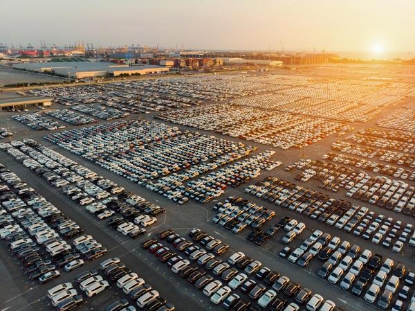 Auto's klaar voor export