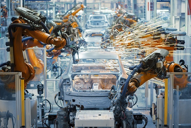 Robotisering in auto industrie