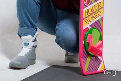 Nikes en hoverboard