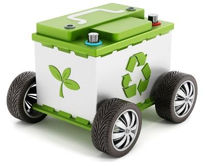 Recycling accu elektrische auto