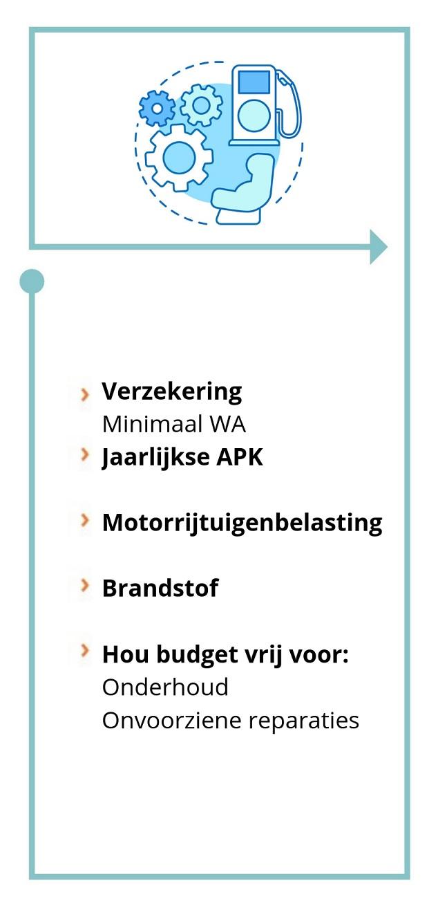 Stap 2: Eerste auto kopen