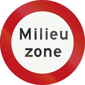 Verkeersbord start milieuzone Nederland